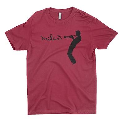Miles Davis T-Shirt | Miles Playing Trumpet Logo Miles Davis Shirt