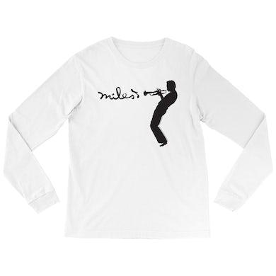 Miles Davis Long Sleeve Shirt | Miles Playing Trumpet Logo Miles Davis Shirt