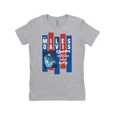 Miles Davis Ladies' Boyfriend T-Shirt | Miles Quintet Concert Flyer Miles Davis Shirt
