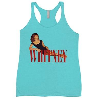 Whitney Laying On Logo Red Shirt