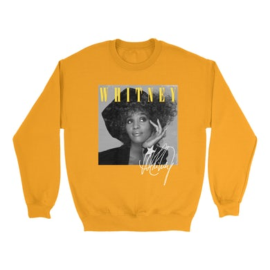 Whitney Black And White Star Photo With Logo Distressed Sweatshirt