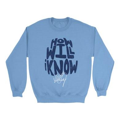 How Will I Know Navy Design Distressed Sweatshirt