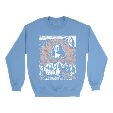 Big Brother And The Holding Company Big Brother and The Holding Co. Bright Colored Sweatshirt | Featuring Janis Joplin Fresno Concert Flyer Big Brother and The Holding Co. Sweatshirt