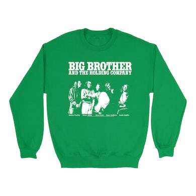 Featuring Janis Joplin Black and White Photo Big Brother and The Holding Co. Sweatshirt
