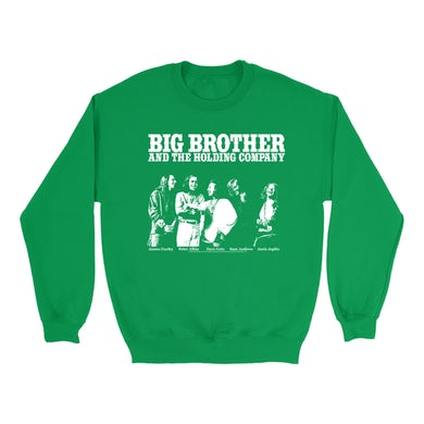Big Brother And The Holding Company Big Brother and The Holding Co. Bright Colored Sweatshirt | Featuring Janis Joplin Black and White Photo Big Brother and The Holding Co. Sweatshirt