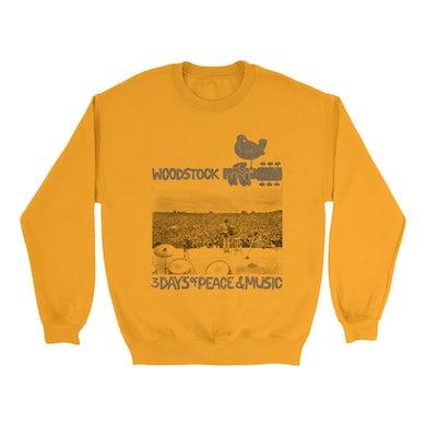 Woodstock Bright Colored Sweatshirt | On Stage At Woodstock Woodstock Sweatshirt