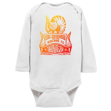Big Brother and The Holding Co. Long Sleeve Onesie | Big Brother And The Holding Company The Matrix Concert Psychedelic Big Brother and The Holding Co. Onesie