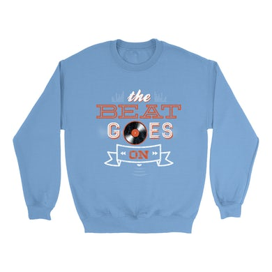 Merchbar Music Life Colorful Sweatshirt   The Beat Goes On Merchbar Music Life Sweatshirt