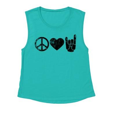 Merchbar Music Life Muscle Tank   Peace Love Rock n' Roll Merchbar Music Life Tank Top