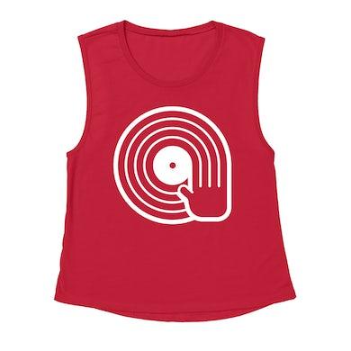 Merchbar Music Life Muscle Tank   DJ Spinning Vinyl Merchbar Music Life Tank Top