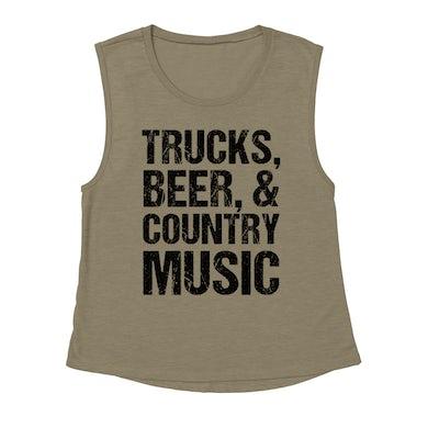 Merchbar Music Life Muscle Tank   Trucks, Beer, Country Music Merchbar Music Life Tank Top