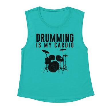 Merchbar Music Life Muscle Tank   Drumming Is My Cardio Merchbar Music Life Tank Top
