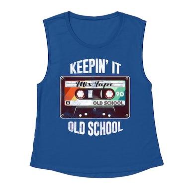 Merchbar Music Life Muscle Tank   Keepin' It Old School Merchbar Music Life Tank Top