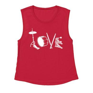 Merchbar Music Life Muscle Tank   Drum Love Merchbar Music Life Tank Top
