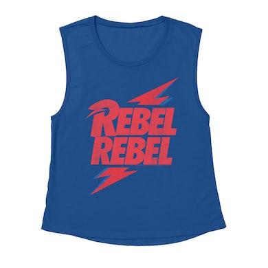 Rebel Rebel Lightning Bolt Distressed Shirt