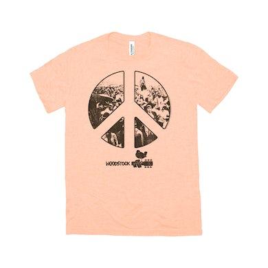 Woodstock Triblend T-Shirt | Crowd Photo Peace Sign Woodstock Shirt