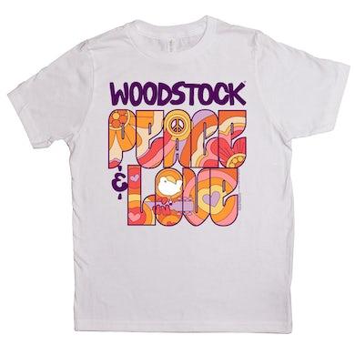 Woodstock Kids T-Shirt | Peace And Love Groovy Design Woodstock Kids Shirt