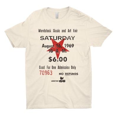 Woodstock T-Shirt | Woodstock Music And Art Fair Ticket Stub Design Woodstock Shirt