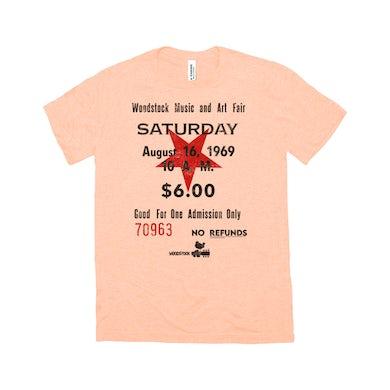 Woodstock Triblend T-Shirt | Woodstock Music And Art Fair Ticket Stub Design Woodstock Shirt