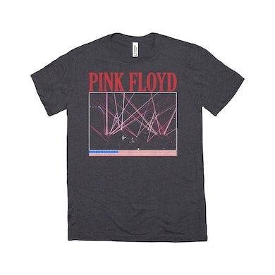 Pink Floyd Triblend T-Shirt | Lazer Lights On Stage Concert Design Distressed Pink Floyd Shirt