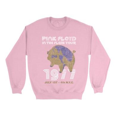 Pink Floyd Bright Colored Sweatshirt | In The Flesh 1977 NYC Concert Distressed Pink Floyd Sweatshirt