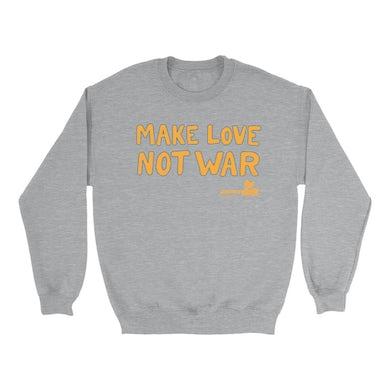 Woodstock Sweatshirt | Make Love Not War Distressed Woodstock Sweatshirt