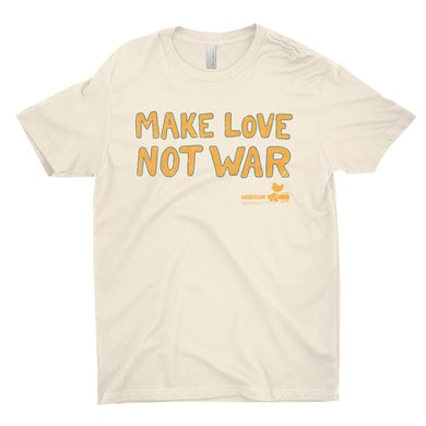 Woodstock T-Shirt | Make Love Not War Distressed Woodstock Shirt