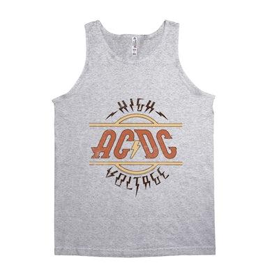 AC/DC Unisex Tank Top | Retro Colored High Voltage Design Distressed ACDC Shirt