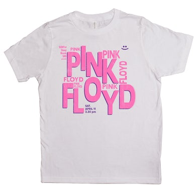 Pink Floyd Kids T-shirt | Stony Brook University Concert Flyer Design Pink Floyd Kids Tee