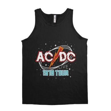 AC/DC Unisex Tank Top | Red Universe 1978 Tour Design ACDC Shirt