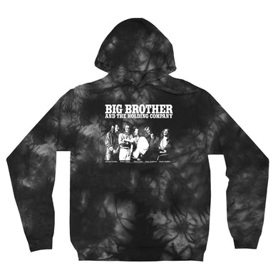 Featuring Janis Joplin Black and White Photo Big Brother and The Holding Co. Hoodie (Merchbar Exclusive)