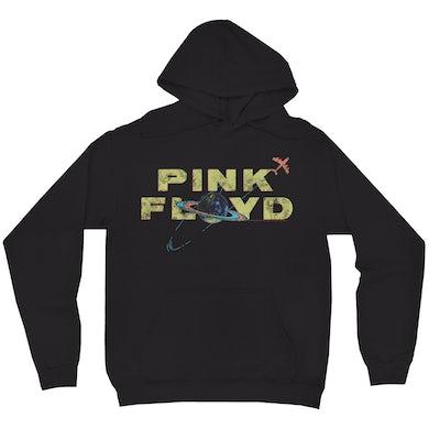 Pink Floyd Hoodie | Vintage Orbit Logo Distressed Pink Floyd Hoodie