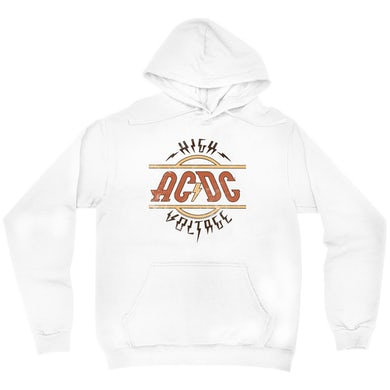 AC/DC Hoodie | Retro Colored High Voltage Design Distressed ACDC Hoodie