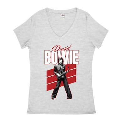 Red Bowie WIth Sax Contemporary Image Shirt