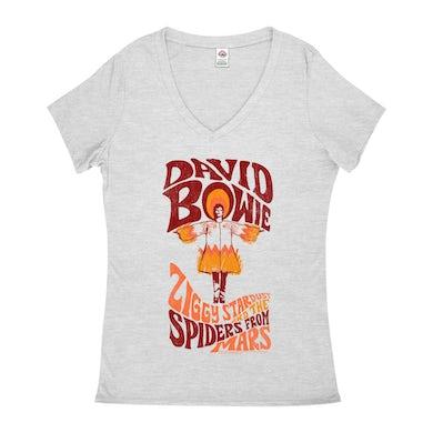 Retro Orange Ziggy Stardust And The Spiders From Mars Distressed (Merchbar Exclusive) Shirt