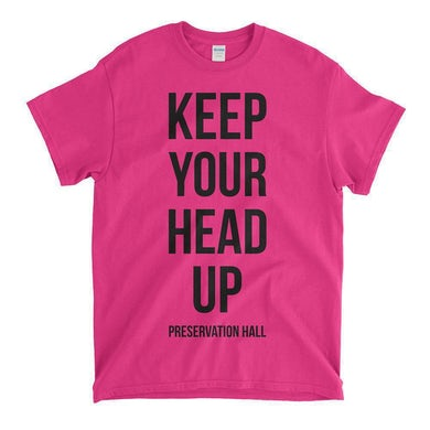 Keep Your Head Up Youth Tee - Heliconia Pink