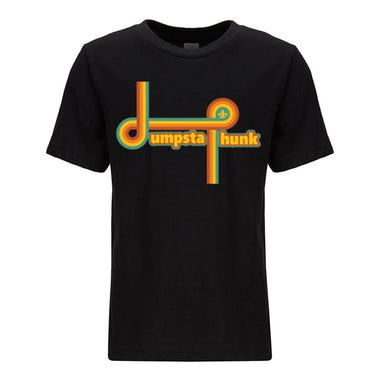 Dumpstaphunk Kids Rainbow Tee - BLACK
