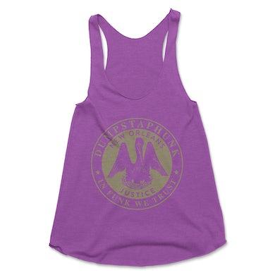Dumpstaphunk Ladies Justice Tank - Purple