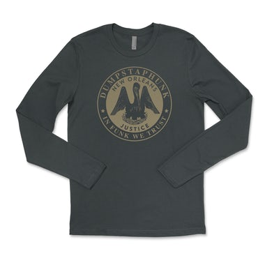 Dumpstaphunk Justice Long Sleeve Tee - Gray
