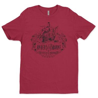 Anders Osborne Unisex Ship T Shirt - Cardinal