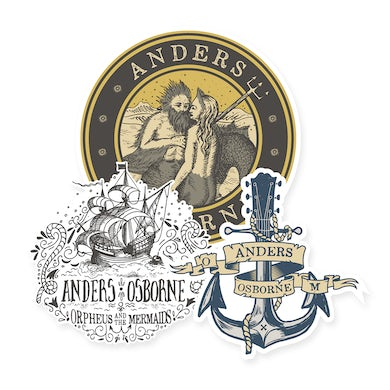 Anders Osborne Orpheus and the Mermaids Stickers 3-Pack