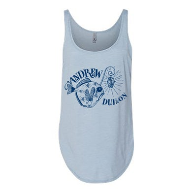 Andrew Duhon Ladies Fish Light Tank - Stonewash Blue