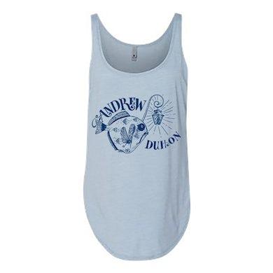 Andrew Duhon Ladies Fish Light Tank - Stonewash Blue