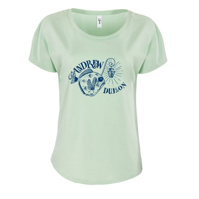 Andrew Duhon Ladies Fish Light Dolman Shirt