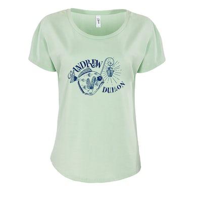 Andrew Duhon Ladies Fish Light Dolman Shirt