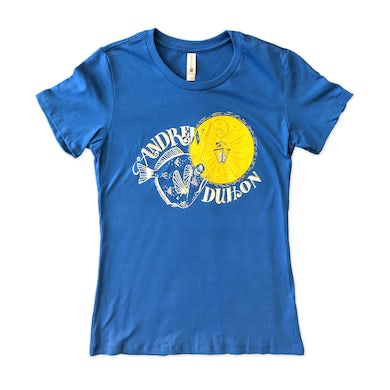Andrew Duhon Ladies Fish Light T-Shirt - Cool Blue