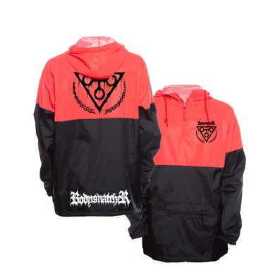 Bodysnatcher Two-Tone Reflective Anorak Windbreaker