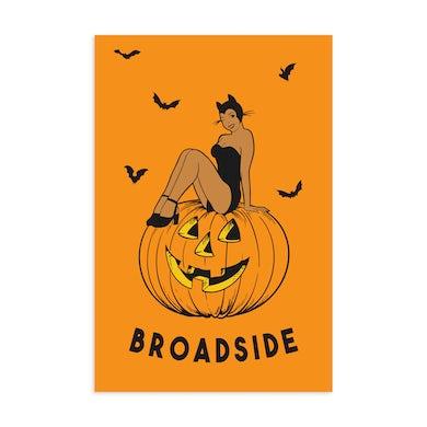 "Broadside 11""x17"" Screen Printed ""Halloween"" Poster"