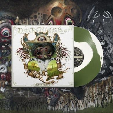 Destroy Rebuild Until God Shows D.R.U.G.S. LP on A/B Side White & Green Vinyl (Pre-Order) SOLD OUT