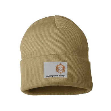 Tan Patch Beanie